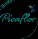 Logo Studio Picaflor PNG transparante achtergrond