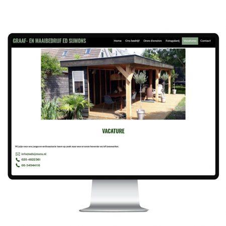 Webdesign Ed Sijmons Studio Picaflor