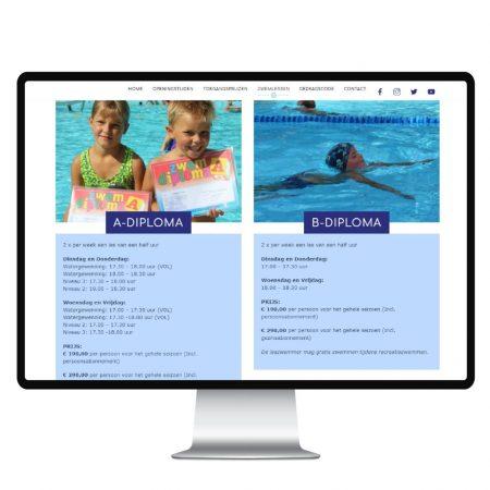 Webdesign Zwembad de Breek