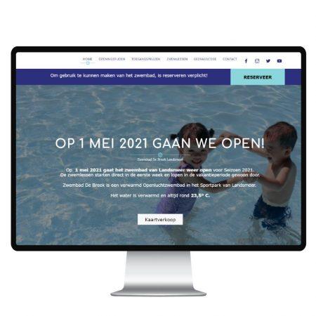Webdesign Zwembad de Breek Studio Picaflor